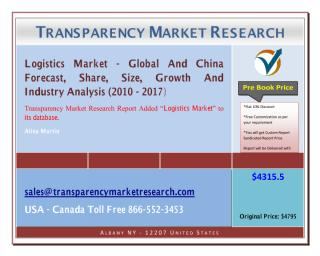 Logistics Market - Global And China Forecast, Share, Size, Growth And Industry Analysis 2010 - 2017.pdf