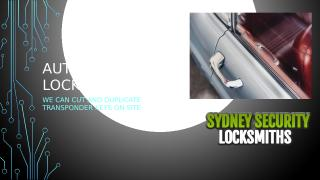 SydneySecurityLocksmiths-Lost Car Keys Sydney.pptx