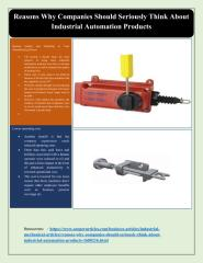 Reasons Why Companies Should Seriously Think About Industrial Automation Products.pdf