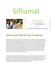 How to Get Rid Of Love Problems.pdf