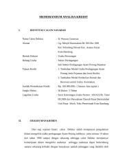 Memorandum Analisa Kredit H. Wawan (Pasar).doc