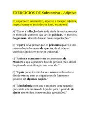 EXERCÍCIOS DE ADJETIVO E SUBSTANTIVO.doc
