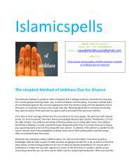 The simplest Method of Istikhara Dua for Divorce.pdf