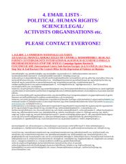 EMAIL LIST 3 - POLITICAL - HUMAN RIGHTS - LEGAL - SCIENCE - ACTIVISTS.doc