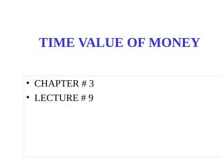 Time value of money-8.ppt
