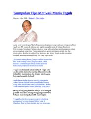 Kumpulan Tips Motivasi Mario Teguh.doc